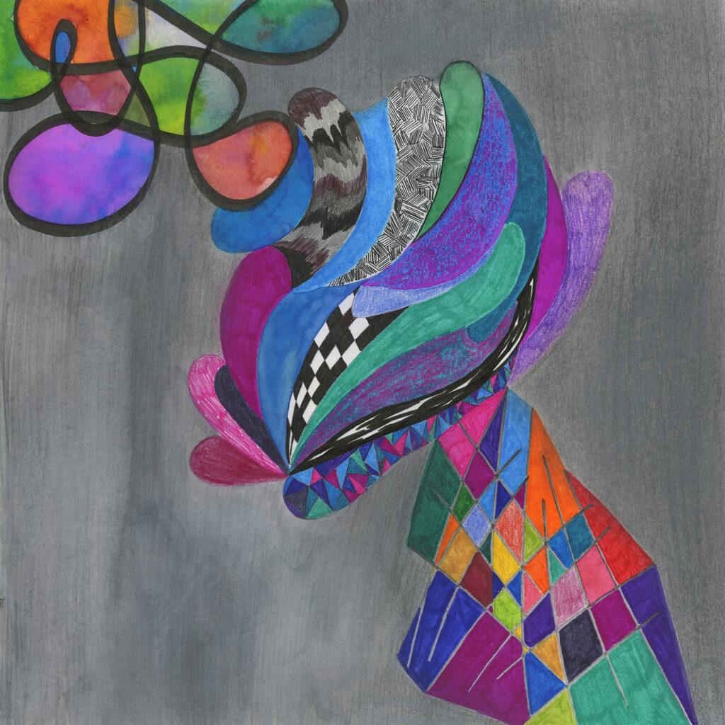 mundo / pintura-collage